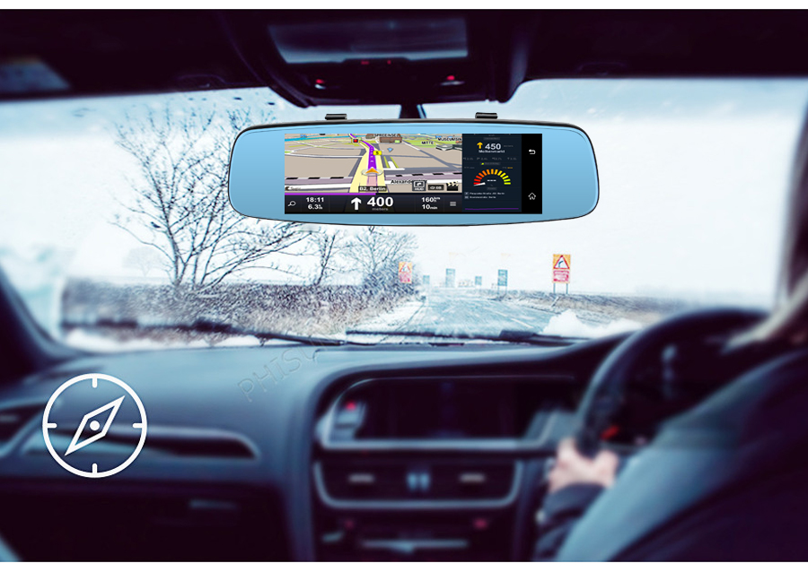 "Junsun 4G ADAS Car DVR Camera Digital Video recorder mirror 7.86"" Android 5.1 with two cameras dash cam Registrar black box 16GB 20"