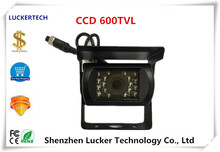 Luckertech 4Pin Aviation Plug IP67 Waterproof Camera 600TVL DC12V CCD NightVision Backup RearView EngineeringVehicel truck bus(China)