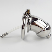 Buy Anti Spiked ring Male chastity device catheter stainless steel penis lock chastity urethral penis ring chastity belt