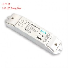 Free shippitn LT-701-6A;0/1-10V LED dimming driver;DC12-24V input;6A*1CH output  5 years guarantee
