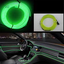 JingXiangFeng Car decorative lights Driving at night Ambient Light EL cold light line DIY decorative dashboard console door