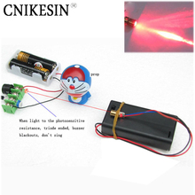CNIKESIN diy Infrared laser line aiming at shooting guard against theft alarm module science experiment technology Kit