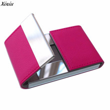 Hot Sale New Men's Women Credit Card Package Card Holder Double Open Business Card Case bancaire aluminium tarjetero mujer(China)