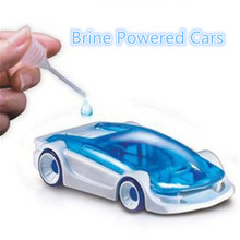 wholesale 3pcs/lot Strange New Children Kids toys Action Figure Car Educational Toy DIY Brine Powered Cars funny free shipping(China)