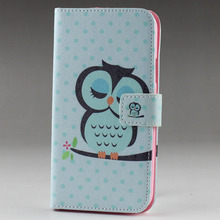 owl and eiffel tower Left and Right Style  Flower rhinestone Crystal Leather wallet purse handbag case cover  For HTC ONE M8