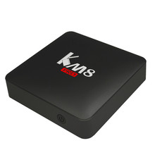 hot sale KM8 Pro Octa core Android Wifi TV box with 2GB RAM and 16GB ROM Portable Wifi 4K TV Stick Android 6.0 Family TV Center