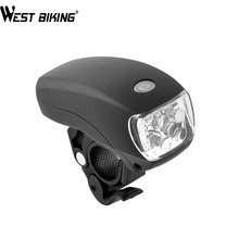 WEST BIKING Cycling Bike Super Bright 5 LED Front Torch Headlight Light Lamp Bracket 3-Modes Waterproof Black Bicycle Light