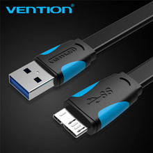 2m Vention Micro USB 3.0 For Samsung S5 Note 3 USB Flex Data Sync Cable Transfer Charger Charging i9600 N900 N9000 N9006 N9002(China)