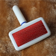 Red Puppy Cat Dog Grooming Slicker Dog Comb Gilling Brush Quick Clean Tool Pet