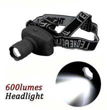 600Lumen CREE LED Headlamp Flashlight Frontal Lantern Zoomable Head Torch Light Bike Riding Lamp For Camping Hunting ZK76(China)