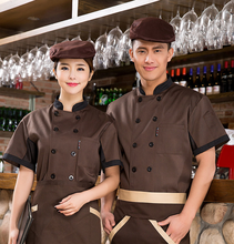 2017 Short Sleeve Summer Chef Jacket Kitchen Restaurant Food Service Workwear Clothes Chef Uniform Chefs Clothing