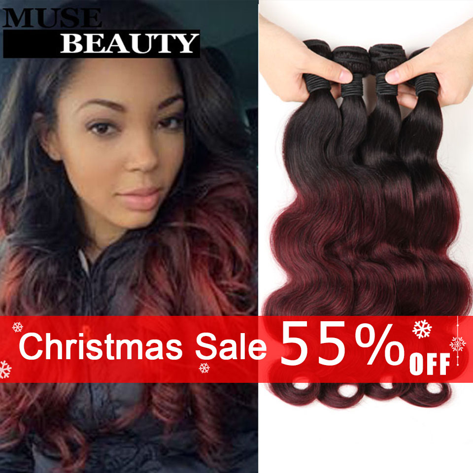 Queen 1B Burgundy Brazilian Hair Body Wave Ombre 99J Brazilian Body Wave Ombre Human Hair Weave Cexxy Meches Bresilienne Lots<br><br>Aliexpress