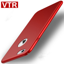 VTR luxury matte cases for iphone 5 5s se 6 6s plus 7 plus case Hard Scrub Back cover Protective Plastic matte PC Full red case