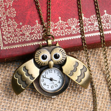 Lovely Owl Watch Nurse Fob Watch with Necklace Chain Relogio De Bolso P631(China)