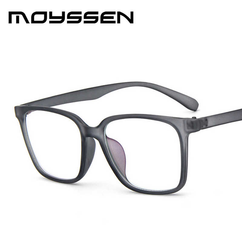 93b11ea203 Moyssen Men s Super Large Oversized Square Frame Geek Eyeglasses Women Nerd  Decorative Myopia Glasses Prescription Eyewear