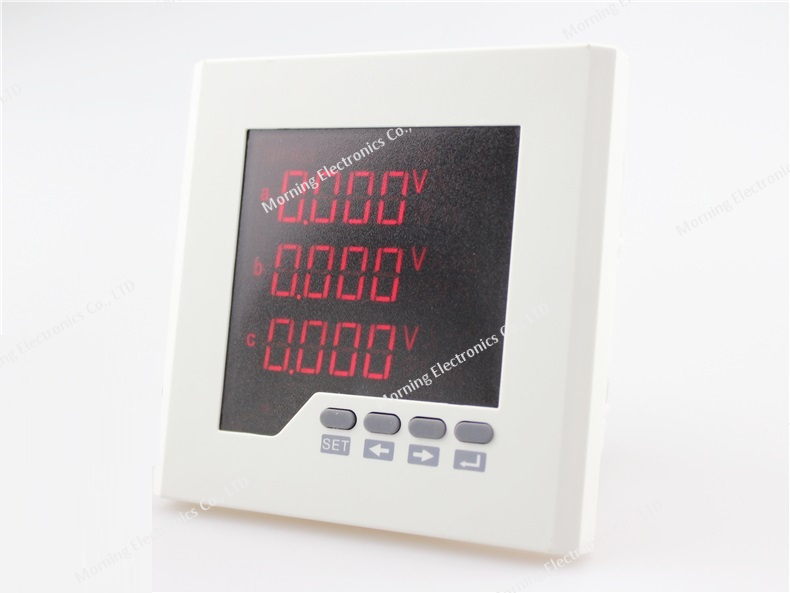 ME-3D2 ac LED digital display 3 phase DO and DI function intelligent energy meter with panel size 120*120mm<br><br>Aliexpress
