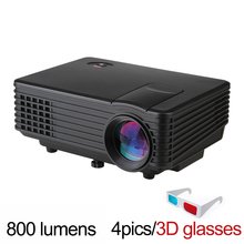 Mini lcd TV Android 4.4 wifi projector mobile phone cellphone led 3d full hd 1080P video proyector Hdmi beamer home theater