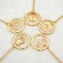 divergent necklace vintage Dauntless Candor Erudite Amity Abnegation pendant gold and silver for men women wholesale