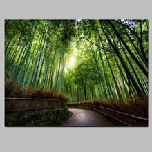 HD Drucken Bild Wandkunst Rahmen 1 Stück Kyoto Japan Bambus Wald Berg Wege  Malerei Wohnkultur Landschaft Leinwand Poster