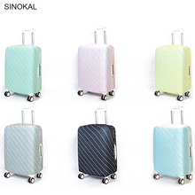 Suitcase Bag Case Cover Travel Accessories Luggage Cover on Road With High Quality Stretch Fabric Protection Trolley Case(China)