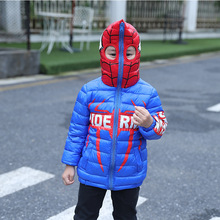 Retail!2017 fashion baby girls and boy winter cartoon spiders  thicken warm hooded clothing down jackets coat,boy clothes
