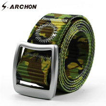 Buy S.ARCHON Casual Camouflage Tactical Waist Belts Men Quick Dry Square Alloy Buckle Nylon Waistband Army Military Combat Camo Belt for $9.60 in AliExpress store