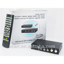 250 KM/H Smaller, Smarter dvb t car tv receiver H.264 2 tuner PVR USB Record
