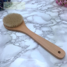Natural Bristle Long Handle Wooden Bath Brush skin massage body brush exfoliating Spa Scrubber bathroom products free shipping