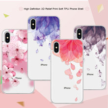 Buy Cover Case iPhone X 5.8 inch 3D Lace Relief Flower Bird Soft TPU Phone Cases Coque iPhone X Funda iPhoneX apple X for $1.15 in AliExpress store
