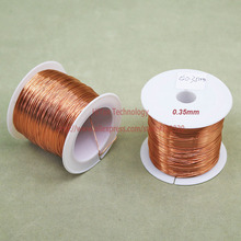 (100Grams/lot) Polyurethane Enameled Copper Wire Diameter 0.35MM Varnished Copper Wires QA-1/155 2UEW Transformer Wire Jumper(China)