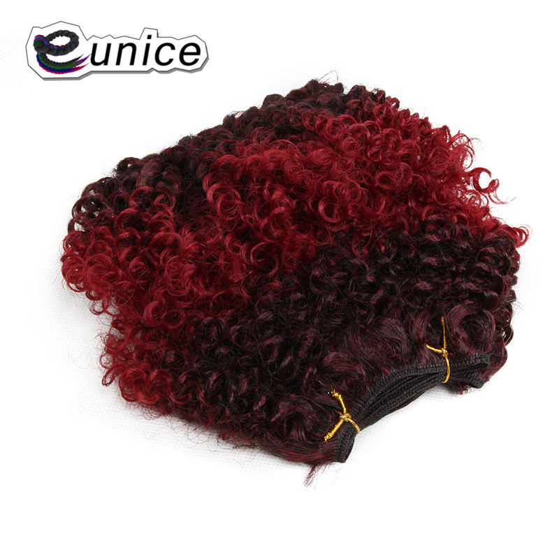 synthetic weaving 8INCH Jerry curly Braid ombre braiding hair weft extentions  (20)