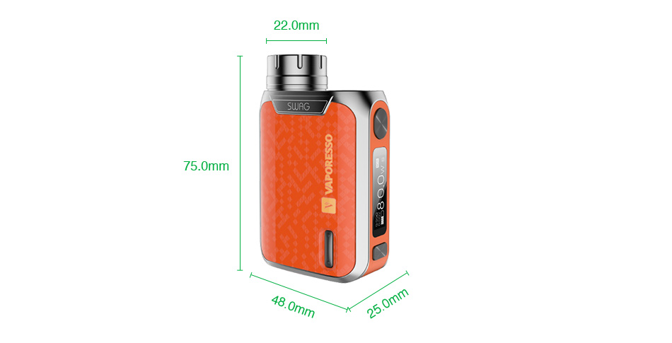80W Vaporesso Swag TC Kit with NRG SE Tank - 2ml & 3.5ml