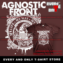 Agnostic Front Band My Life My Way My Destiny 100% Cotton T-shirt Tee T