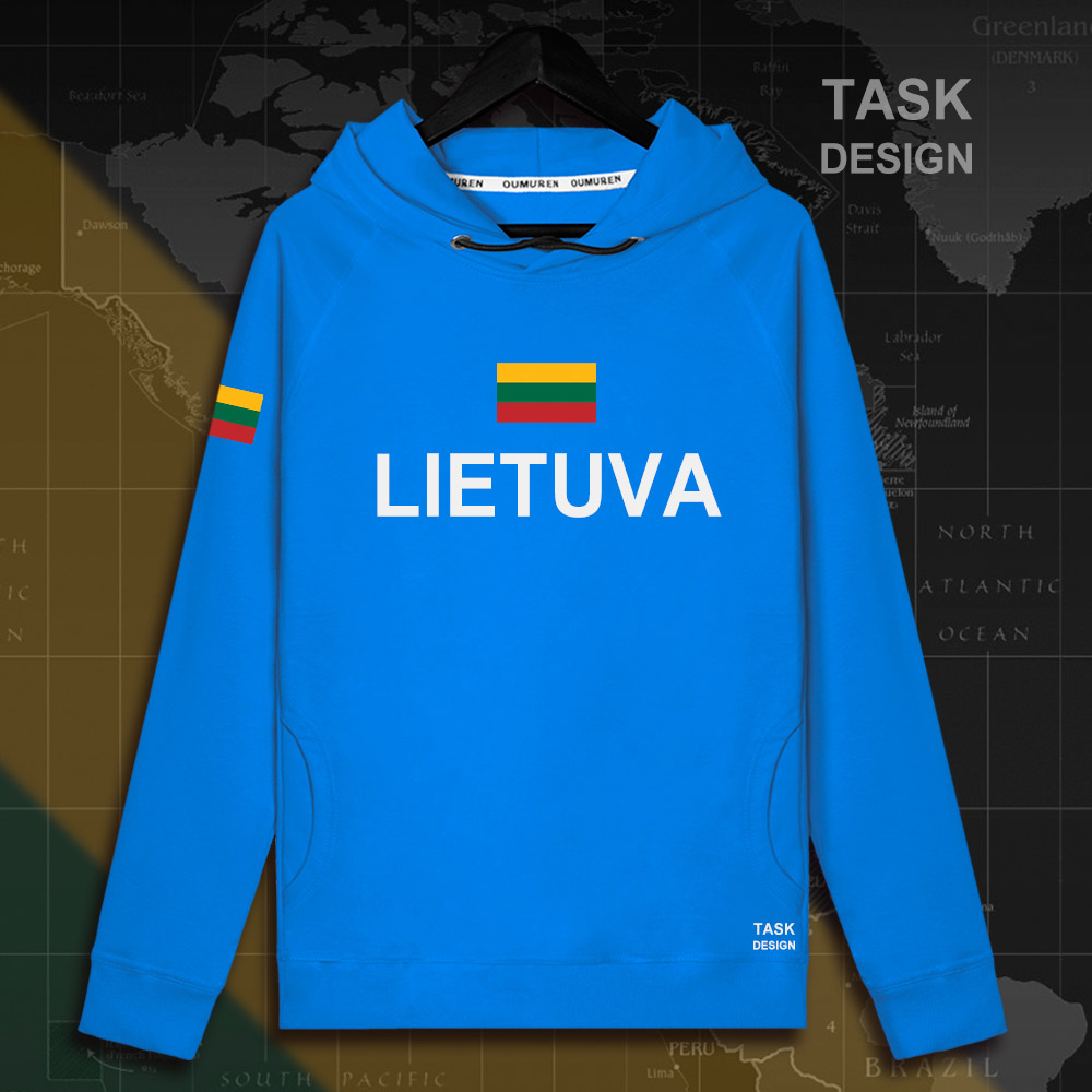 Lithuania Lithuanian LTU Lietuva Lietuvos men hoodie pullovers hoodies men sweatshirt new streetwear clothing Sportswear tracks 13