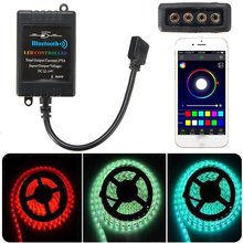 Mayitr DC12V Bluetooth LED RGB Controller Wireless Android Music Time Bluetooth 4.0 Controller For 5050/3528 RGB Led Strip 8-10M