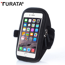Turata Armband For iphone 5 5S SE 6 6S 7 Plus 8,Sport Running Phone Holder Bag Arm Band 5.5 inch For Samsung Mobile Phone T30(China)