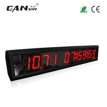 [Ganxin]Portable Low Price Cheap 1.8'' Led Timing Clock Led Wall Clock
