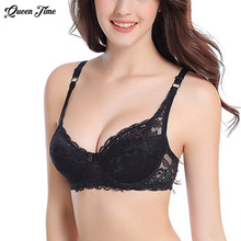 Sexy Lady Women Underwire Padded Up Embroidery Lace Bra 32-40B Brassiere Bra Push Up Bras Hot