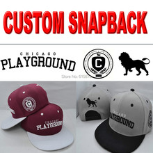 2017 Custom Embroidered Snapback Custom Logo 3D Embroidery Flat bill Cap Customize Snapback Hats Wholesale Free Shipping(China)