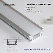 10pcs*1m aluminum LED profile with waterproof 3mm PMMA strong cover for floor light or wall light led strip(China)