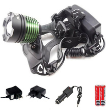 More Choices Headllight Cree T6 Waterproof LED Headlamp 1000lm 18650 Battery Rechargeable Head lamps 3 Mode Zoomable Car Charger