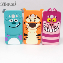3D Cute Silicone Sully Sulley Tiger Alice Cat Cartoon Case Samsung Galaxy J1 J5 J7 A3 A5 A7 2016 S5 S6 S7 Mobile Phone Cover - XINKSD Official Store store