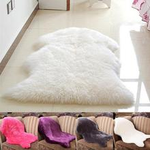 Luxury Shaggy Rug Carpet Sheepskin Rugs Floor Mat Super Soft Rug Bed Spread Chair Cover Fluffy(China)