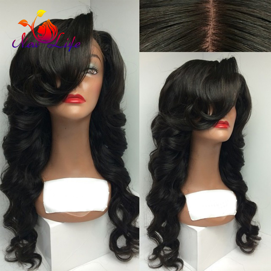 Long Hot Premium Fiber Black Super Wave With Baby Hair glueless heat resistant synthetic lace front wig For Black Women In Stock<br><br>Aliexpress