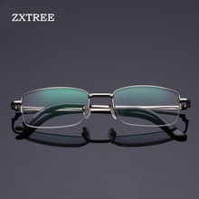ZXTREE Ultra-light LED Reading Glasses Gift for Parents +1 +1.5 +2 +2.5 +3 +3.5 +4 Rimless Glasses Eyeglass Magnifier Light Z28(China)
