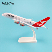 20cm Air Qantas Spirit Of Australia Airlines Airbus 380 A380 Airways Plane Model W Stand Metal Airplane Model Aircraft Gift(China)
