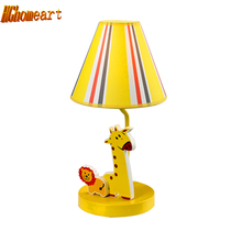 Kids Room Pink Bedside Lamp Led E27 110V-220V Chinese Contemporary Table Lamps Home Lighting Modern Staircase Desk Led Lamp