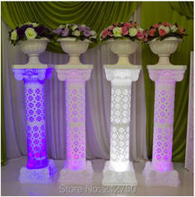 Express free shipping 105cm Tall European style hollow out artificial roman columns wedding decoration supplies 4pcs/lot