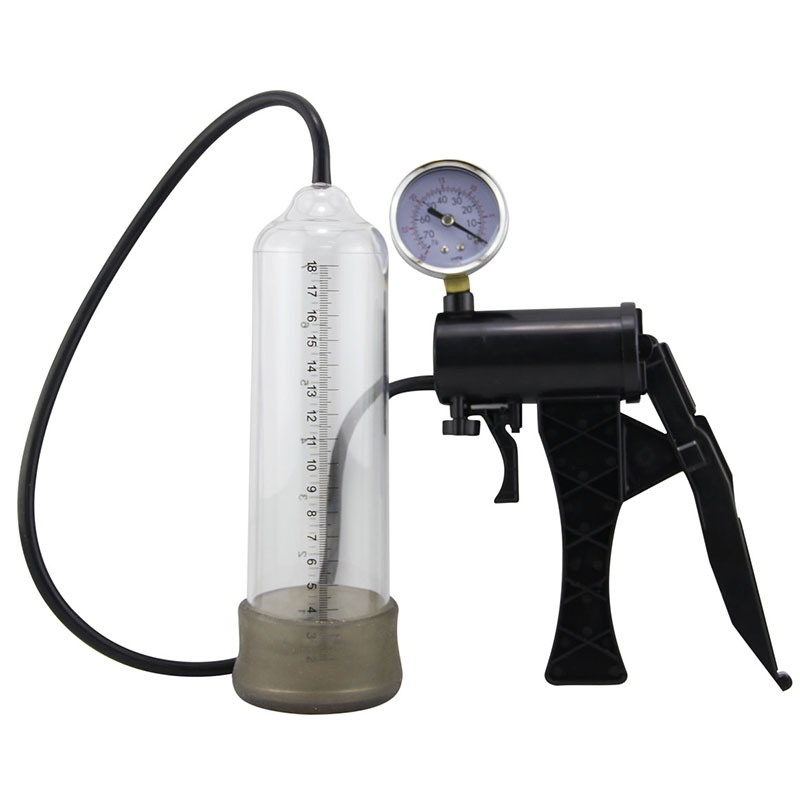 A Penis Pump suction Extender Hand-drive Vacuum Man Sex Toy Penis Enlarger Adult Sexy Product for Men Erection exercise meter   <br>
