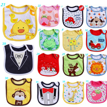 Multipatterns Baby Bibs Burp Cloths Infant Baby Girl Boy Waterproof Cotton Babador Bebes Animal Style Newborn Baby Saliva Towel(China)